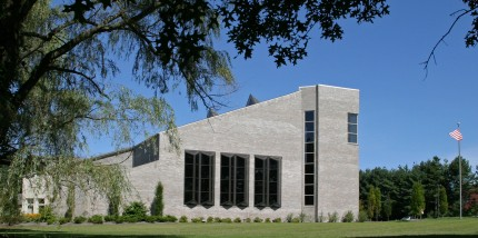 View of congregational hall.