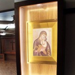 Prayer station illuminated and privacy glass deactivated