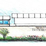 Original Concept Rendering of the Front Elevation