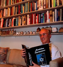 Joel Ives with Synagogue Collection