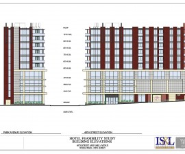 Elevation of Hotel site study