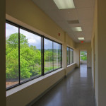 The main hallway was intended to be a great transition to the quiet rooms with a view of the river.