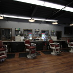 Line of the carefully restored barber chairs